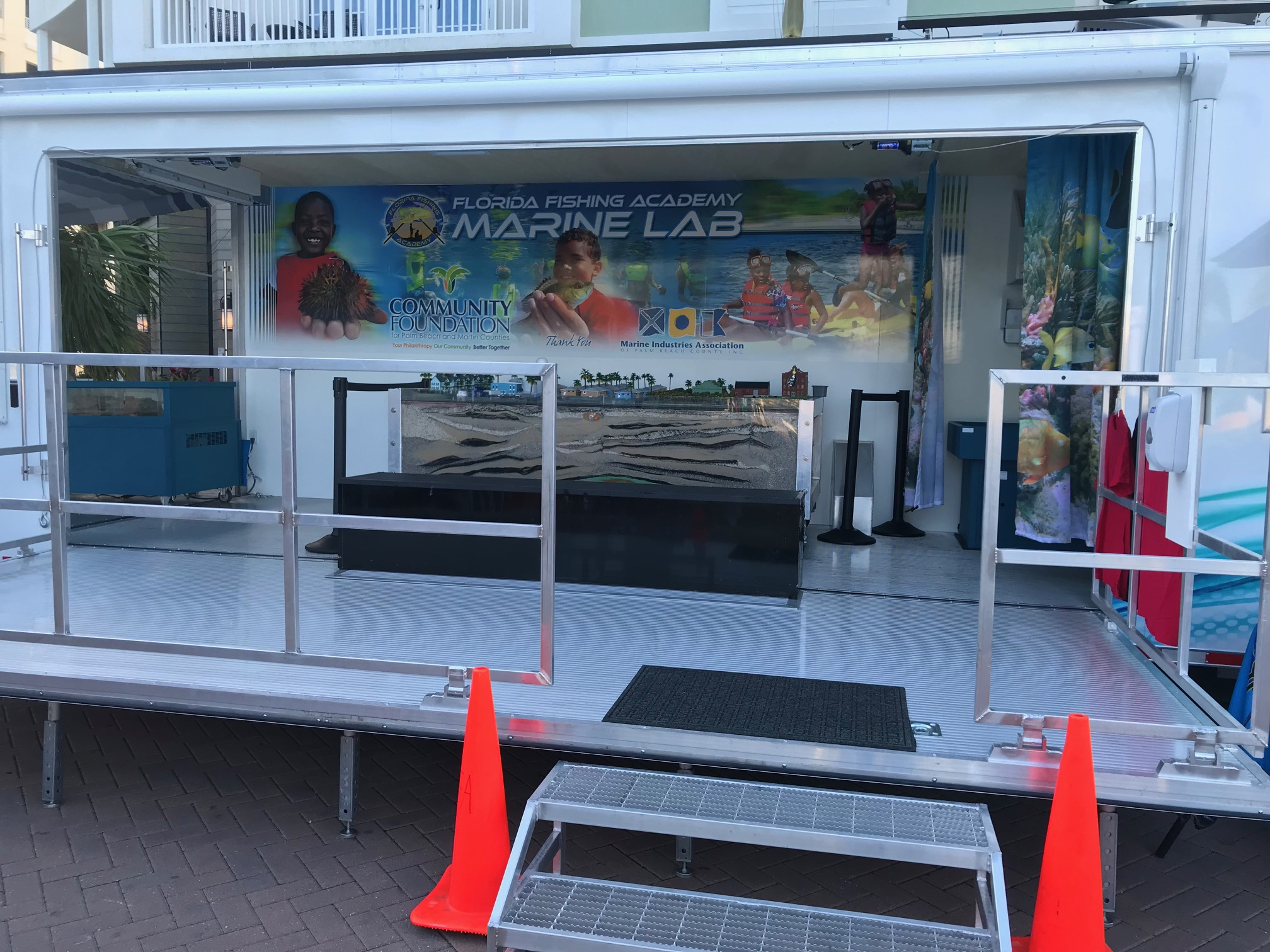 Indise of our Mobile Marine Lab